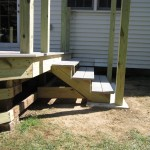 Outdoor Deck Stair Base