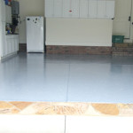 Refinished Garage Floor with Glossy Finish in NJ