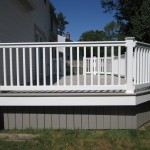 Finished Deck Vinyl Railing in South Jersey